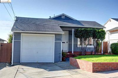 El Cerrito Single Family Home For Sale: 1315 Lawrence St