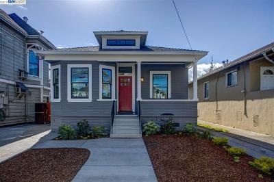 Alameda Single Family Home Pending Show For Backups: 2314 Eagle Ave