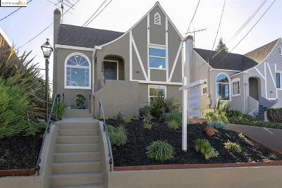 Oakland Single Family Home For Sale: 3884 Coolidge Ave