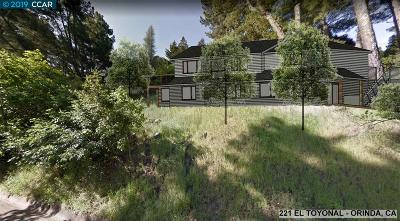 Orinda Residential Lots & Land New: 221 El Toyonal