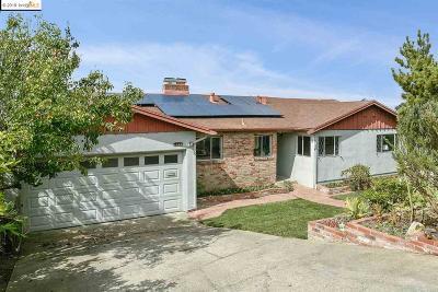 El Cerrito Single Family Home New: 1349 Brewster Dr