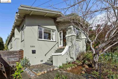Oakland Single Family Home New: 5850 Lawton Ave