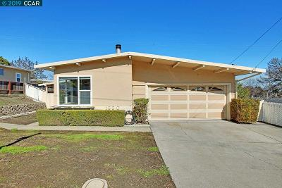 Pinole Single Family Home New: 1550 Marlesta Rd