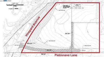 Pleasanton Residential Lots & Land Pending Show For Backups: 2500 Vineyard Ave