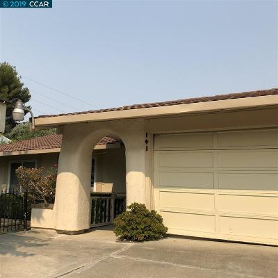 Vallejo Single Family Home For Sale: 141 Hillview