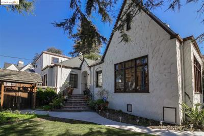 El Cerrito Single Family Home For Sale: 5427 Hillside Ave