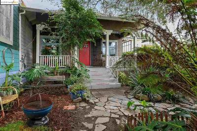 Oakland Single Family Home Pending Show For Backups: 4509 Market St