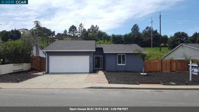 Hercules Single Family Home For Sale: 1836 Lupine Rd