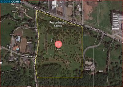 Contra Costa County Residential Lots & Land For Sale: 8690 Marsh Creek Rd