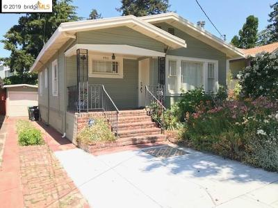 Oakland Single Family Home New: 3921 Coolidge Ave
