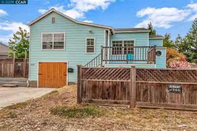 Martinez Single Family Home For Sale: 2830 Rose St