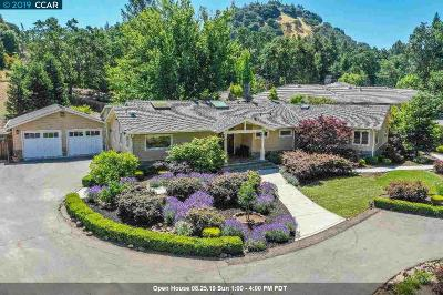Walnut Creek Single Family Home Price Change: 184-A Castle Hill Ranch Road