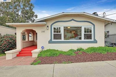Oakland Single Family Home New: 2165 Ransom Ave
