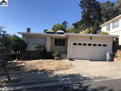 El Cerrito Single Family Home For Sale: 7305 Plank Ct