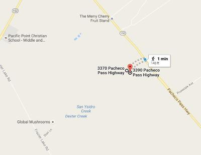 Gilroy Residential Lots & Land For Sale: 3390 Pacheco Pass Highway
