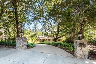 Los Gatos Single Family Home For Sale: 46 Hernandez Avenue