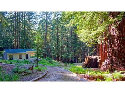 Santa Cruz Single Family Home For Sale: 1850 Ice Cream Grade