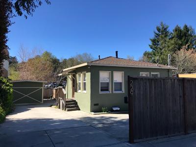 Santa Cruz Single Family Home For Sale: 229 Fern Street
