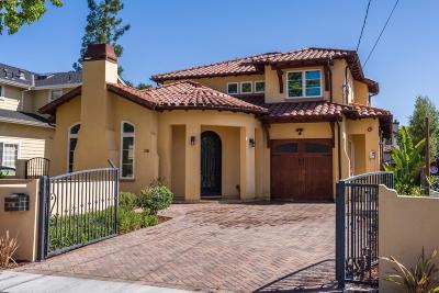 Palo Alto Single Family Home For Sale: 2791 Cowper Street