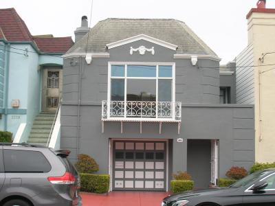 San Francisco Single Family Home For Sale: 2222 36th Avenue