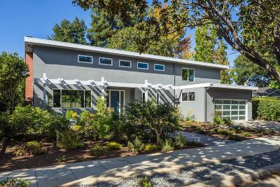 Palo Alto Single Family Home For Sale: 1087 Fife Avenue