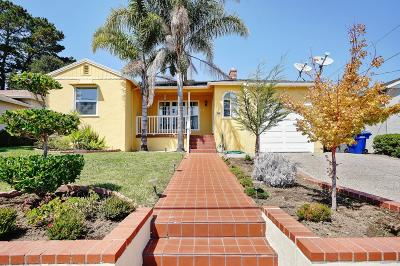 Millbrae Single Family Home For Sale: 536 Bayview Avenue