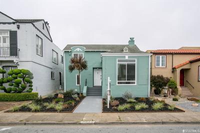 San Francisco Single Family Home For Sale: 3028 20th Avenue