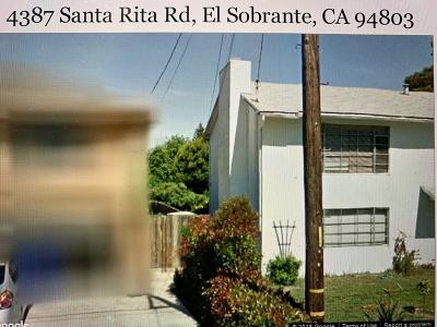 El Sobrante Single Family Home For Sale: 4387 Santa Rita Road
