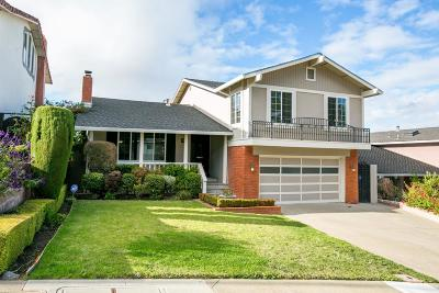 Millbrae Single Family Home Pending Show For Backups: 718 Clearfield Drive