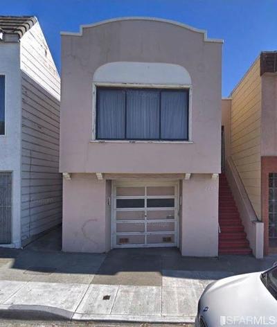 San Francisco Single Family Home For Sale: 2424 19th Avenue