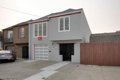 San Francisco Single Family Home Pending Show For Backups: 1819 46th Avenue
