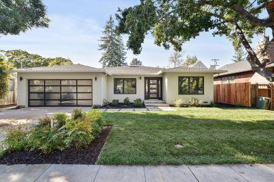 Palo Alto Single Family Home For Sale: 625 Kingsley Avenue