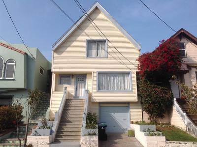 San Francisco Single Family Home For Sale: 34 Wanda Street