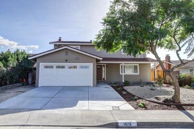 Milpitas Single Family Home Pending Show For Backups: 1926 Crater Lake Avenue