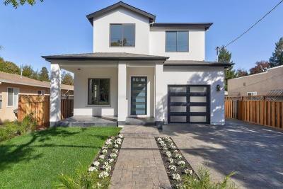 San Mateo County, Santa Clara County Single Family Home For Sale: 1640 Villa Street