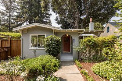 Palo Alto Single Family Home Pending Show For Backups: 128 Middlefield Road