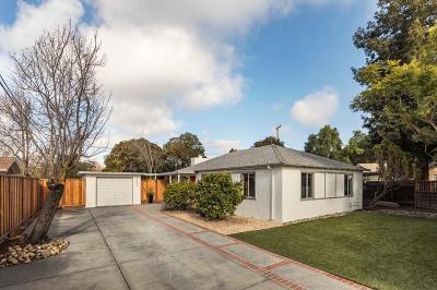 Palo Alto Single Family Home Pending Show For Backups: 3233 Greer Road