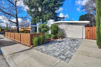 Mountain View Single Family Home For Sale: 364 N Rengstorff Avenue
