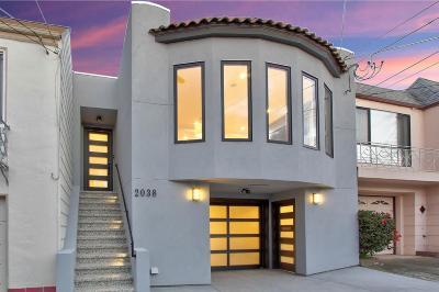San Francisco Single Family Home For Sale: 2038 20th Avenue