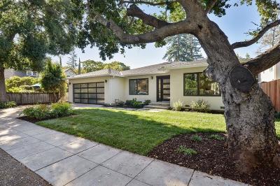 Palo Alto Single Family Home For Sale: 625 Kingsley Avenue