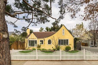 Palo Alto Single Family Home For Sale: 1629 Mariposa Avenue