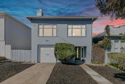 San Francisco Single Family Home For Sale: 581 Arch Street