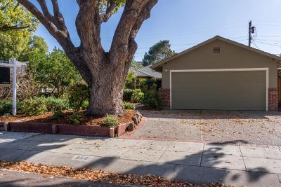 Palo Alto Single Family Home For Sale: 152 Walter Hays Drive