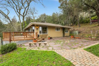 Los Gatos Single Family Home Pending Show For Backups: 17515 Upper East Zayante Road