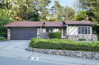 Castro Valley Single Family Home For Sale: 5833 Cold Water Drive