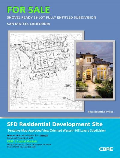 San Mateo Residential Lots & Land For Sale: 1 Bel Aire