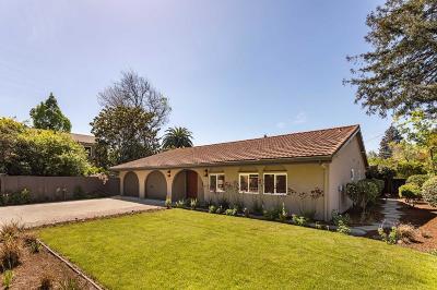 Palo Alto Single Family Home For Sale: 2312 Louis Road