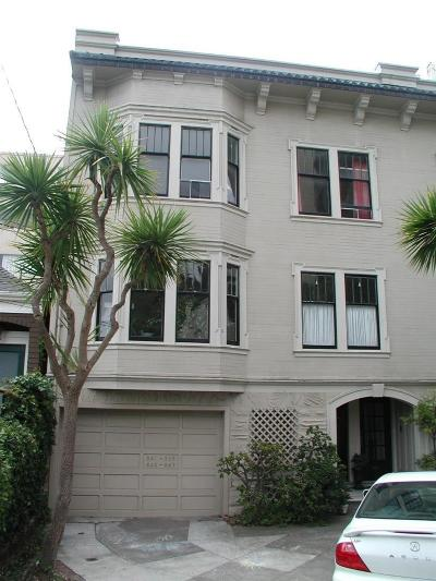 San Francisco Single Family Home For Sale: 943 Lombard Street