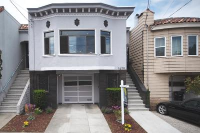San Francisco Single Family Home For Sale: 1679 21st Avenue