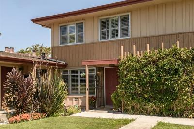 San Mateo Condo/Townhouse For Sale: 1576 Marina Court #c